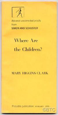 New York: Simon & Schuster, 1975. Softcover. Fine. First edition. Uncorrected Proof. Tall wrappers. ...