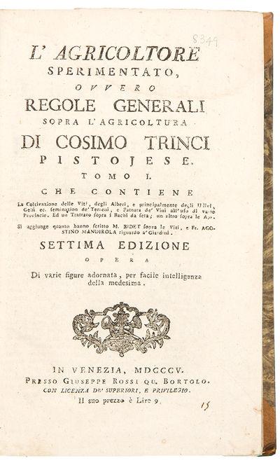Venice: Giuseppe Rossi, 1805. 2 volumes, octavo. (7 3/4 x 4 3/4 inches). , 443; , 287, pp. 6 folding...