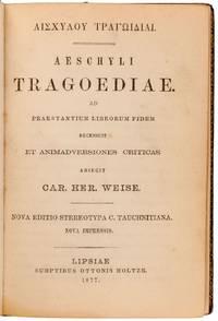 Aeschyli Tragoediae [bound with] Pindari Epinicia.