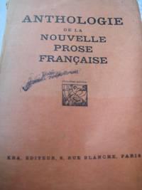 image of Anthologie De La Nouvelle Prose Francaise