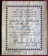 Ex-praemio Québec. Séminaire du Québec