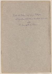 PAROLE DEL RETTORE CAV. UFF. LUIGI TARTUFARI ALL'APERTURA DELL'ANNO ACCADEMICO 1912-913...