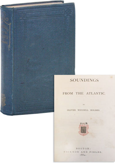 Boston: Ticknor and Fields, 1864. First Edition. Hardcover. Early collection of Holmes's essays orig...