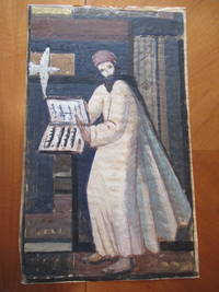 "Original Tempera Painting: Study For A Modernist Mural Of ""John"