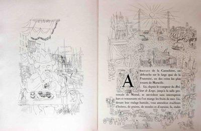(Dufy, Raoul, 1877-1953) Montfort, Eugene. La Belle-Enfant ou l'Amour a Quarante Ans.. Paris: Ambroi...