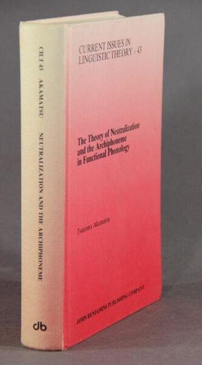 Amsterdam and Philadelphia: John Benjamins, 1988. First edition, 8vo, pp. xxi, , 533, ads; binding a...