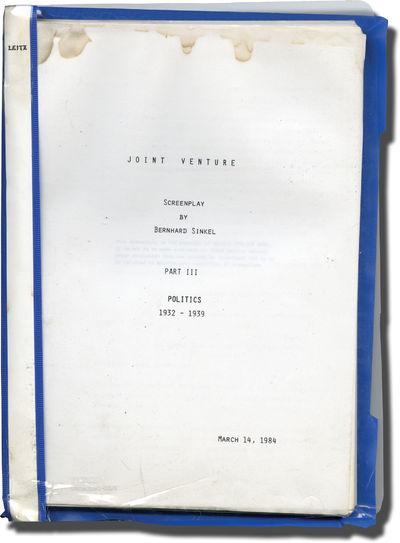 Munich: Bavaria Atelier, 1984. Draft script for Season 1, Episode 3 of the 1986 series titled here u...