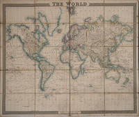 image of The World.  Hand colored dissected map on linen
