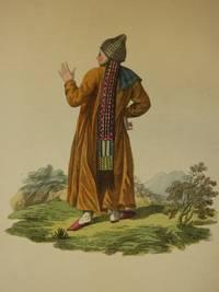The Costume of the Russian Empire 1811. Original Hand Coloured Engravings by John Dadley (after Johann Gottlieb Georgi). Plate XX*: The Back Figure of a Female Tartar of Kazan [Tatar/Tatars/Tatarstan]