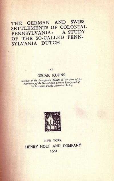 New York: Henry Holt and Company, 1901. First Edition. Hardcover. Light fraying to the spine tips. V...