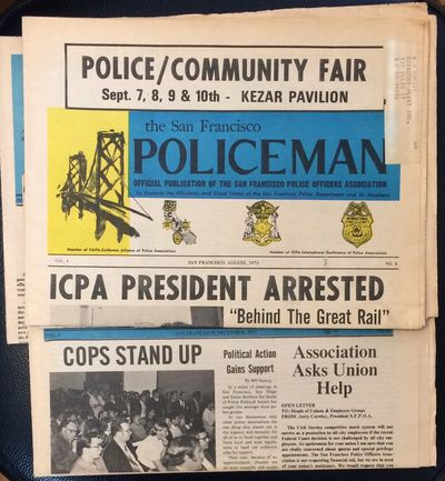 San Francisco: S.F. Police Officers' Association, 1973. Four issues of the tabloid format newspaper;...