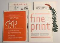 image of Fine Print : a Review for the Arts of the Book (1981 Quarterly Set) Vol 7,  Nos 1 - 4