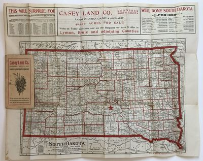 Sioux Falls: Will A. Beach Printing Co, 1909. About very good.. Folding map, approximately 17 x 21.5...