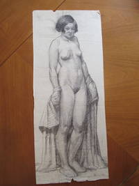 Original  Drawing: School Study Of Female Figure