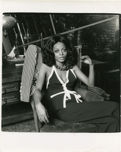N.p.: N.p., 1974. Vintage oversize double weight still photograph of Diana Ross from 1974. Photograp...
