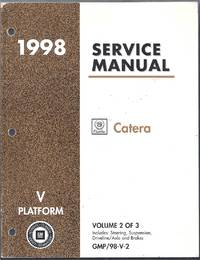 1998 Cadillac Catera Service Manual (V Platform) Volume 2 of 3. GMP/98-V-2