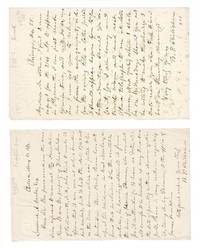 Two one-page autograph letters signed