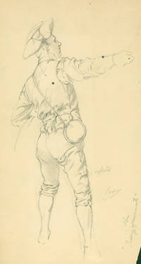 4 pencil drawings laid into Uniform of the Army of the United States 1774 - 1907