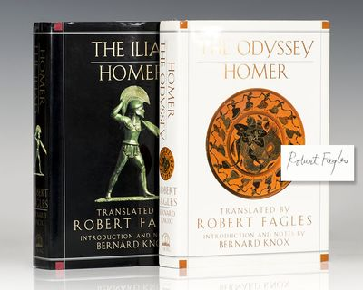 New York: The Viking Press, 1990 & 1996. First editions, early printings of both The Iliad and The O...