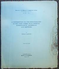A contribution to the zoogeography of the West Indies, with especial reference to amphibians and reptiles.