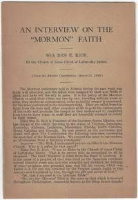 An interview on the Mormon faith by Ben E. Rich