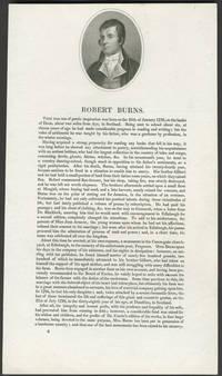 image of Robert Burns.  Vignette mezzotint portrait