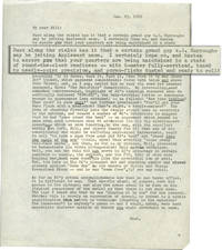 image of Letter to William Burroughs from Terry Southern (One page typescript letter)