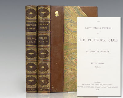 London: Chapman and Hall and Bradbury Evans, 1858. Rare finely bound Library Edition of Dickens' fir...