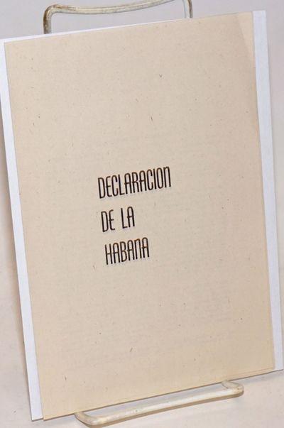 : Confederacion de Trabajadores, n.d.. Seven-panel brochure with text of the 1960 Declaration in ver...