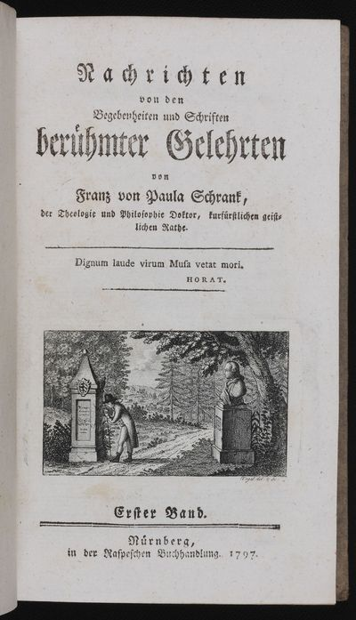 Engraved vignette on title. xvi, 416 pp. 8vo, orig. grey boards, red leather lettering piece on spin...