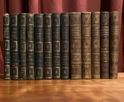 Paris: Durand, 1862. First Edition. Very good. Together 13 vols. (from a total of 16). 8vo. Contempo...