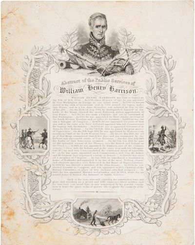 Boston: Engraved by E. Tappan & A.C. Warren, 39 State St., 1840. Broadside, 4-1/2
