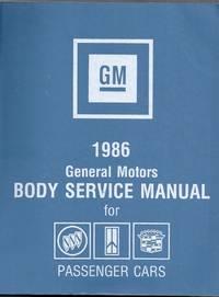 1986 General Motors Body Service Manual for Passenger Cars