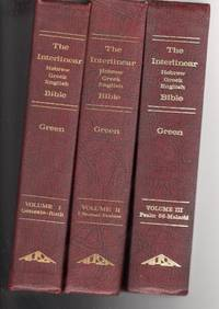 The interlinear Hebrew/Greek English Bible-Vol. One to Three-Containing entire Old Testament