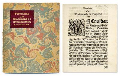 1618. Rare Seventeenth-Century Danish Decree Regulating Boatmen and Firearms Christian IV, King of D...