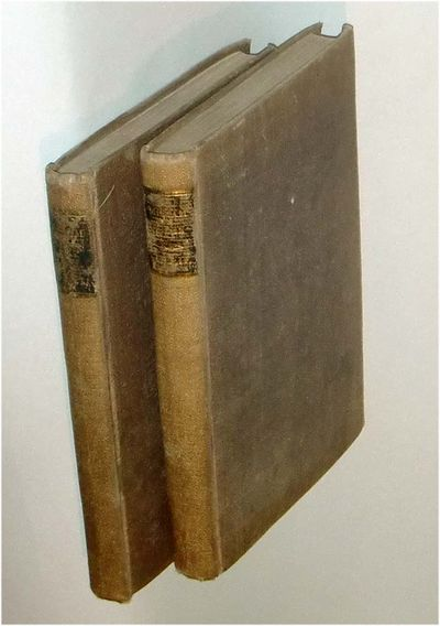 NY: G.& C.&H. Carvill, 1834. sep 22 2017. 2 vols. xxvii, 209 and 206 pp. First edition of the first ...