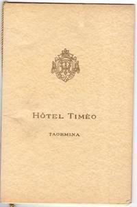 Twelve month menu for Hotel Timea, Taormina - Sicilian Restaurant