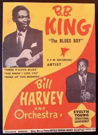 Original 1952 R&B Promotional Poster of B.B. King & Bill Harvey
