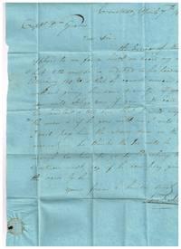 1815 stampless manuscript Samuel Jones Cronstadt, Russia to Captain William Graves St Petersburg re sailor during War of 1812