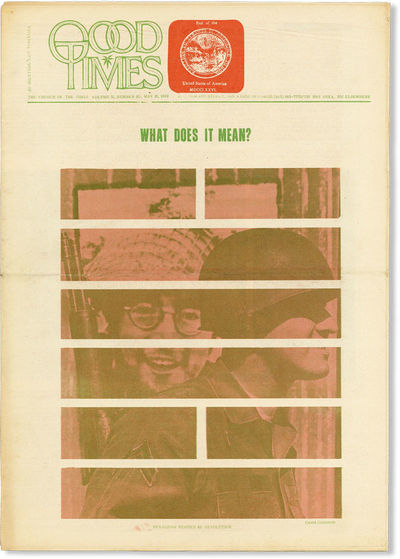 San Francisco: The Trystero Company, 1969. First Edition. Tabloid (40.5cm); photo-illustrated newspr...