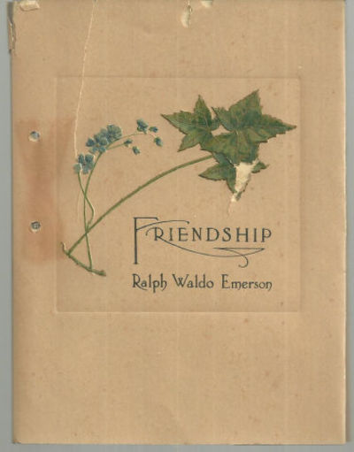 Image for FRIENDSHIP Selections from Ralph Waldo Emerson and Others