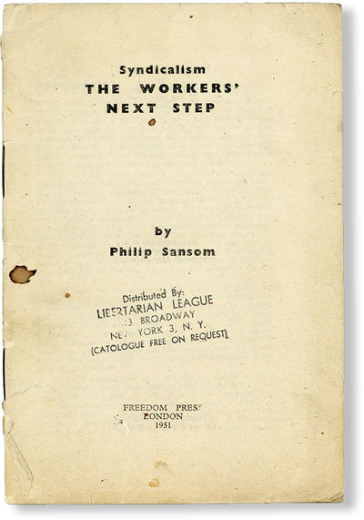 London: Freedom Press, 1951. First Edition. 12mo (18cm.); staplebound self-wrappers; 48pp. Wrappers ...