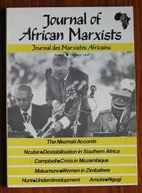 Journal of African Marxists Issue 6 October 1984 / Journal des Marxistes  Africans