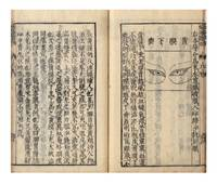 [From label on upper cover]: Ginkai seibi; [from title-page]: Naifu hiden ganka ginkai seibi [in Chinese: Yin hai jin wei; Explanation of the Eye]