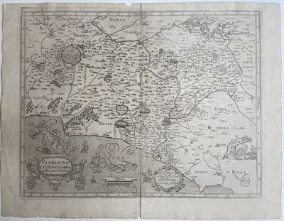 Bologna: Sebastiano Bononi, 1620. unbound. very good. Map. Uncolored engraving. Image measures 14.25...
