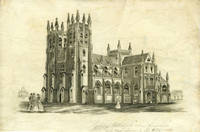 """Proof view of St. Andrew's Cathedral, with pencil annotation """"Sydney Cathedral when finished will costs upwards of L50,000"""""""