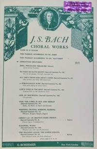 The Christmas Oratorio for Chorus, Soli and Orchestra