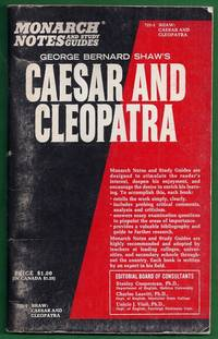 Monarch Notes and Study Guides. George Bernard Shaw\'s Caesar and Cleopatra