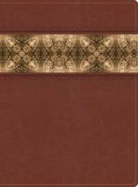 The Apologetics Study Bible, Cinnamon/Brocade LeatherTouch