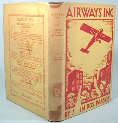 1928. FE. DOS PASSOS, John. AIRWAYS, INC. New York: The Macaulay Company, (1928). First edition. Jus...